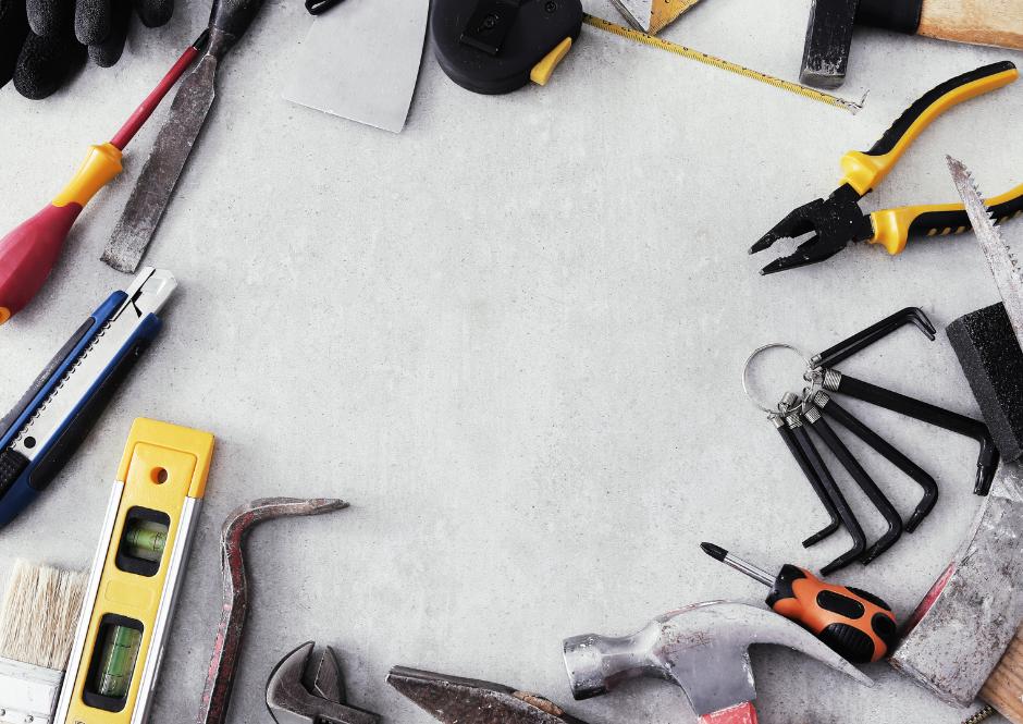 Tools on floor_small