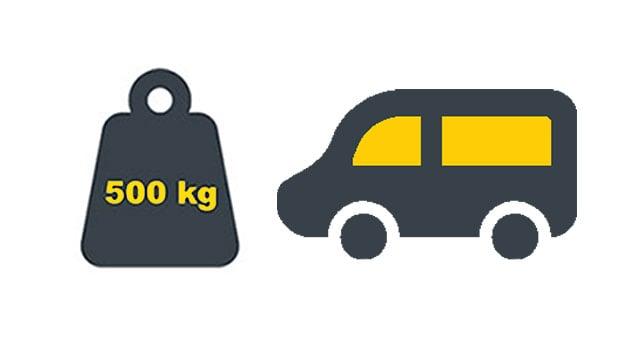 Vekt-varebil-ikoner