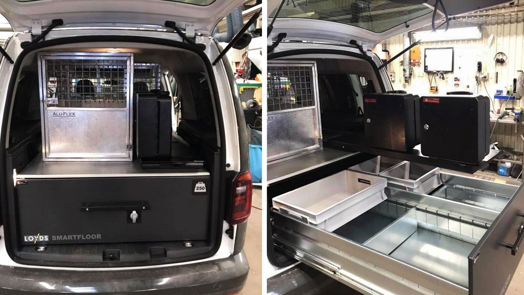VW-Caddy-Hundbur-dubbelgolv
